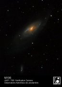 July 2014 - M106 galaxy image taken in the OAJ with JAST/T80 telescope and FLC80 verification camera