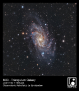 November 2015 - M33 - Triangulum Galaxy taken in the OAJ with JAST/T80 telescope and T80Cam camera