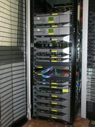December 2013 - Rack with the data transfer nodes, tape libraries and disk storage