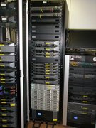 January 2014 - Rack with the UPADT80 storage system (100 TB), computing nodes and database nodes