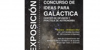 Partial view of the poster 'Concurso de Ideas para GALÁCTICA'